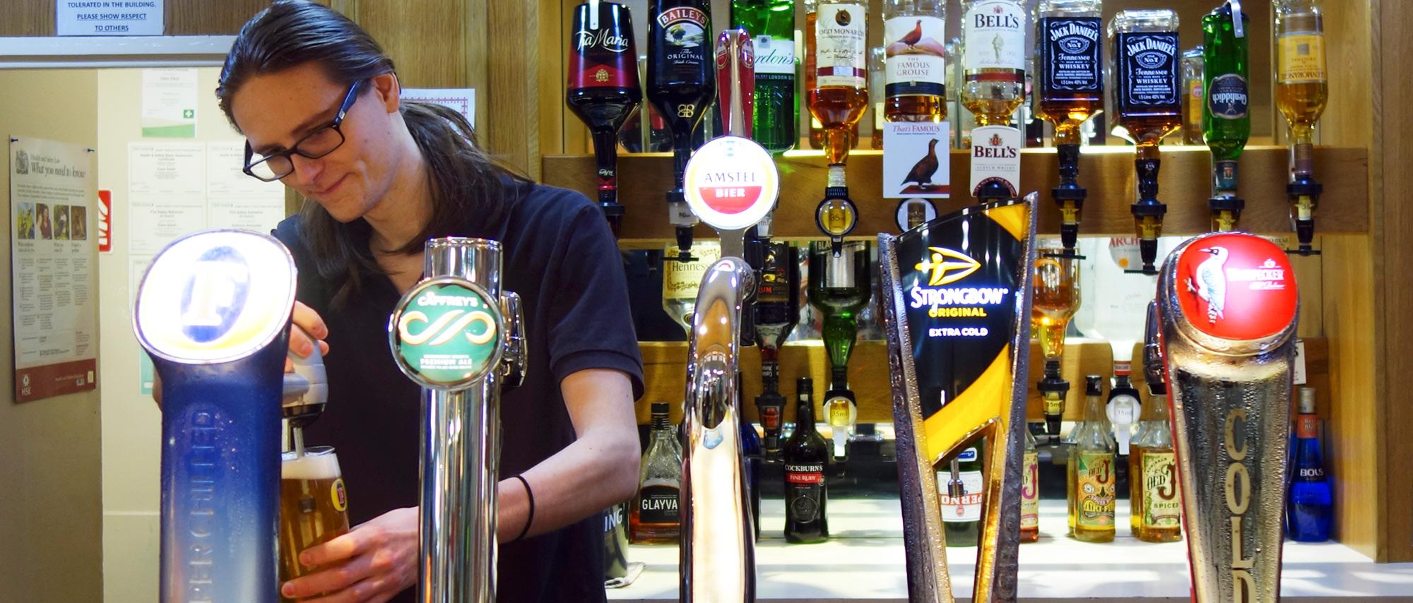 Social club bar at The Grange Centre Club Venue, Throckley