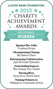 Charity achievement awards, The Grange Day Centre and Club Venue, Throckley