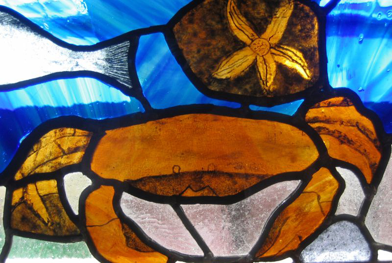Stained glass at The Grange Day Centre, Throckley